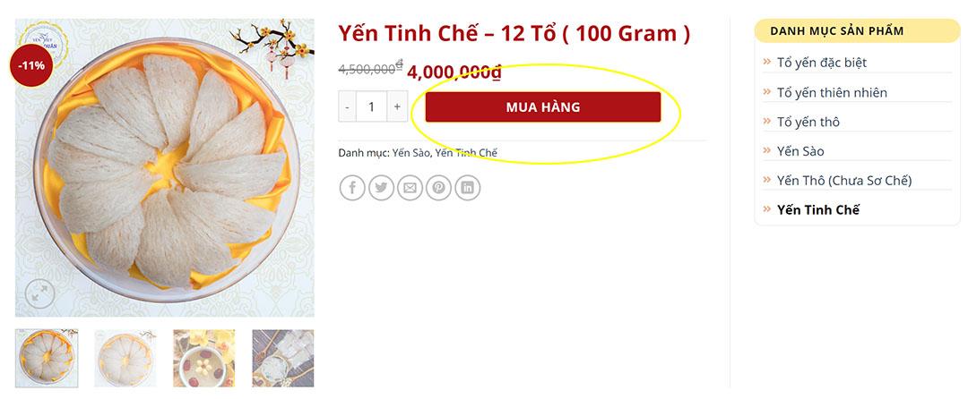 Chọn sản phẩm Yến Việt Minh Quân Mua Hàng